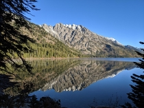 Mirror mirror what do you see Jenny Lake Tetons WY