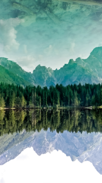 Mirrored Landscape of Fusine Lakes Italy