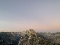 Missing the motherland Half Dome from Glacier Point in Yosemite National Park CA