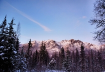 Missing winter sunsets in Eagle River AK