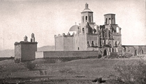 Mission San Xavier Del Bac nine miles south of Tucson in the Santa Cruz Valley