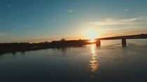Missouri River running through Bismarck ND