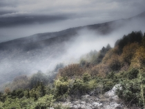 Mist and Clouds on Mount Vodno Macedonia