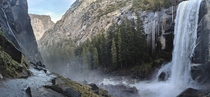 Mist rising from Vernal Fall in Yosemite