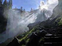 Mist Trail Vernal Falls Yosemite  x