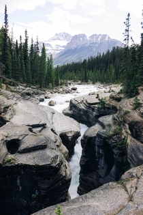 Mistaya Canyon Banff National Park