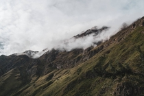 Misty Andes Mountains Peru  OC