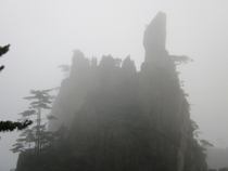 Misty day in Huangshan China