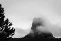 Misty Monument Devils Tower WY