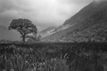 Misty mountains at Buttermere Lake district UK