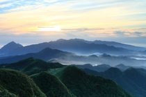 Misty mountains in Pingxi District in Taiwan