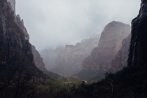 Misty Mountains in Zion National Park