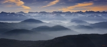 Misty Mountains of Bavaria  by Peter Schlechte