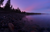 Misty water sunset on Lake Tahoe yesterday