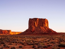 Mitchell Butte at sunset Monument Valley  hermansjoris