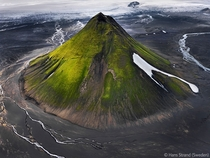 Mlifell Iceland Moss covered volcano taken by Hans Strand