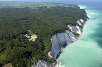 Mns Klint otherwise known as the Cliffs of Mn Denmark from above