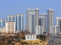 Modern high-rises in Pyongyang North Korea x