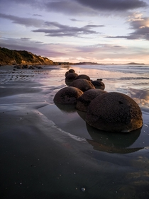 Moeraki Boulders At Sunrise NZ - It was definitely worth it getting up early for this -