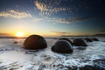 Moeraki Boulders - New Zealand - Large spherical stones surrounded by myths and legends