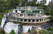 Mohamed Hadids abandoned mega-mansion project - Bel Air California