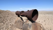 Mojave Megaphone - AKA Sentinel Enigma - No one seems to know how this object got up onto a small rock mountain in the middle of the Mojave Desert Lots of theories but none have ever been confirmed