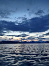 Molde fjorden Norway Image was taken from a boat so there is some visible glare and a reflected light sadly