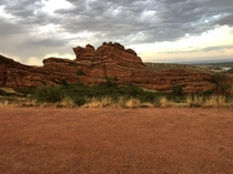 Moments after a passing storm Red Rocks Morrison CO OC  x