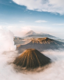 Moments after sunrise Bromo Tengger Semeru National Park Indonesia