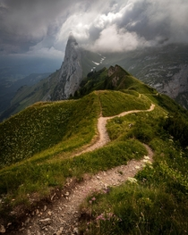 Moments Before a Storm while Hiking through Switzerland  IG seanhew