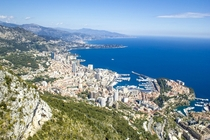 Monaco as seen from La Tte De Chien