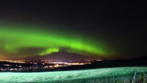 Mondays aurora over Saint-Elzar Quebec