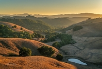 Mondays beautiful sunset in the hills of the San Francisco Bay Area California