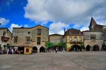 Monpazier France is a th-century bastide town begun in  founded and built by King Edward I of England