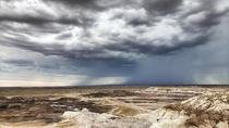 Monsoon season in Petrified Forest National Park Arizona