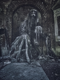 Monster in old mausoleum Poland