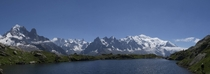 Mont Blanc Massif View from Lac des Cheserys