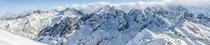Mont Blanc range from Mont Buet shot yesterday while ski touring Chamonix France