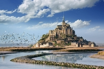 Mont Saint Michel in Normandy France