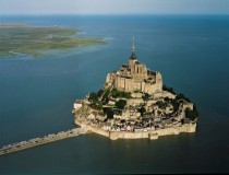 Mont St Michel Normandy France xpost from rAerialPorn