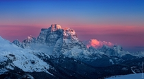 Monte Pelmo in Sunset Dolomities Italy  by Dmitriy Vorobey