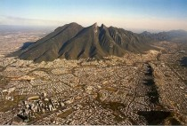 Monterrey Mexico from a helicopter