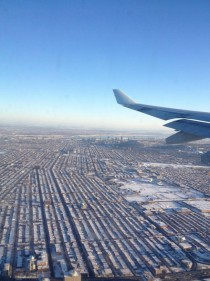 Montreal from an airplane