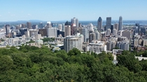 Montreal QC from Mount Royal