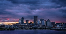 Montreal Quebec at sunset  by Patrick Pilon