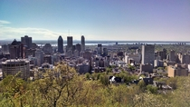 Montreal Quebec from Mont Royal - taken with cell phone