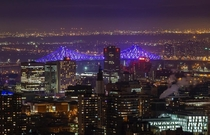 Montreal with its illuminated Jacques-Cartier Bridge evablue
