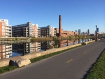 Montreals Lachine Canal was a mirror this morning  x-post from rmontreal