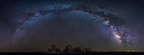 Monument Rocks KS Milky Way Panorama  Huge File