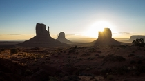 Monument Valley at sunrise Monument Valley Navajo Tribal Park AZ USA
